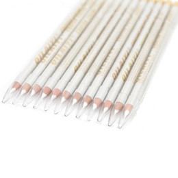 Wholesale Cosmetic Pencil - White Eyeliner 12pcs lot 1 Color Eyes Liner Pencil Waterproof Eye Liner Pencil Cosmetics Pencil CFP26 04#