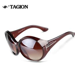 Gafas de sol de forma redonda al por mayor online-Venta al por mayor- 2015 nuevas gafas de sol de las mujeres del diseñador de la marca de gran tamaño en forma redonda gafas casual gafas de sol al aire libre Eyewear 5016
