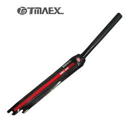 Wholesale Road Bike Front Fork - TMAEX-Full Carbon Road Bicycle Front Fork 1-1 8 in 28.6mm Bike Parts Only 360g Superlight Cycling Forks Fixed Gear Fork Red