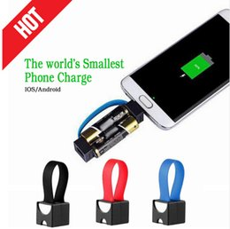 Wholesale Emergency Aa Portable Charger - Newest portable mini USB charging cable minimum emergency 2 AA battery charger Samsung HTC Huawei Android IOS