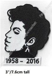 Wholesale B T Shirt - Prince tribute Music Band Logo Iron On Patches Embroidered badge rockabilly singer applique for teens t-shirt cap R&B