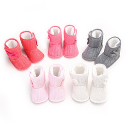 Wholesale Toddler Girls Winter Boots Cheap - Cheap Nice Baby Girls Winter Boots Baby First Walkers Baby Shoes Soft Bottom Boots for Kids Non-slip Toddler Shoes