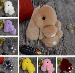 Wholesale Play Boy Men - New Rex Play Dead Rabbit Key chain 17 Colors Fur Car Backpack Rabbit Doll Pendant Fashion Toys Wallet Handbag Pendant Without Box 20 pcs fre