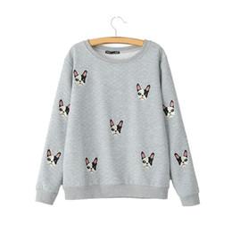 Wholesale Long Dog Pattern - Women cute dog pattern patches pullovers autumn style long sleeve sweatshirts feminine casual street wear tops SW787