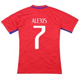 Wholesale Alexis Sanchez - CHILE VIDAL ALEXIS SANCHEZ VARGAS MEDEL VALDIVIA Thailand Quality 16-17 Soccer Uniform Football Jerseys Embroidery Logo CAMISETA DE FUTBOL