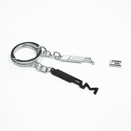 Wholesale Benz Keychain - Black Silver    AMG Metal Keychain Key Chain Keyring Key Rings keyholder Fob For Benz Auto Accessories