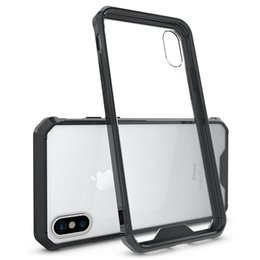 Wholesale Protective Plastic Bumper - For iPhone 8 X Plus CellPhone Case Clear Hard Bumper Protective Cover for iPhone 6 7 Plus