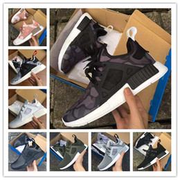 Wholesale Cheap Leather Goods Men - (With Box) Cheap New NMD Runner Primeknit Men Running Shoes XR1 Olive Green low boost Sneakers good quality Men and Women Drop Free shipping