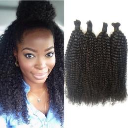 xpression hair weaving Desconto Malaio A Granel Do Cabelo Humano Nenhum Anexo Afro Kinky Curly Cabelo A Granel para Trança 4 Bundles FDSHINE