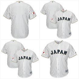 Wholesale Cool White Kids - Youth Japan 2017 World Baseball Classic Jersey White 100% Stiched Embroidery Logos Customized Cool Base Team Jerseys 100% Stiched Kids
