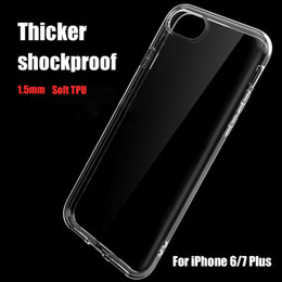 Iphone 7 fall klares design online-1,5mm transparent tpu klar case für iphone xs xr 7/8 plus super anti-drop schutz abdeckung weichen fällen custom designs dhl frei