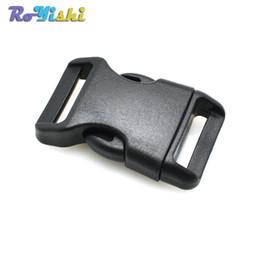 """50pcs / lot 3/4 """"(20mm) cinghie di plastica sagomate di rilascio laterale della cinghia per gli accessori del sacchetto dei braccialetti di Paracord da adattatori per cavi di alimentazione fornitori"""