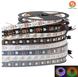 Wholesale Rgb Led Strip Ic - 5m 60 LEDs   m WS2812B WS2812 Pixels White PCB Waterproof WS2811 IC 5050 RGB SMD Digital Color Flexible LED Strip Light 5V