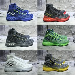 Wholesale New Popular - Adidas Crazy Explosive Boost Basketball Shoes 2018 New Men Sneaker Boost Beige Discount Sale Men Sneaker Sportwear Popular Sports Shoes