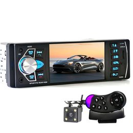 Wholesale Mp4 Audio - 4022D 1Din Car Radio MP4 Player 4.1 Inch Car MP3 MP5 Player Bluetooth FM Stereo Auto Audio With Rear View Camera Steering-wheel +B