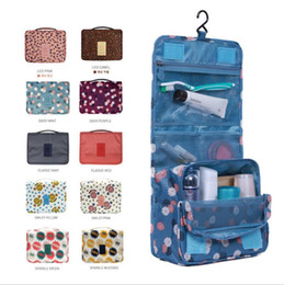 Wholesale Large Hanging Travel Bag - 2017 Leopard New Arrival 10 colors Wash Big Toiletry Women Handbag Travel Hanging Bag Makeup Portable Organizer Large Kit Case Lady Pouch