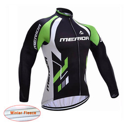 Wholesale Merida Winter Thermal - Merida Winter clothing fleece thermal ropa ciclismo invierno bicycle mtb winter cycling jersey long sleeve sportwear D1209
