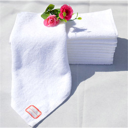 Wholesale 100 Cotton Kitchen Towels White Color Hotel Use Hand Wash Towel Face Towel Small Size Towels Cm G