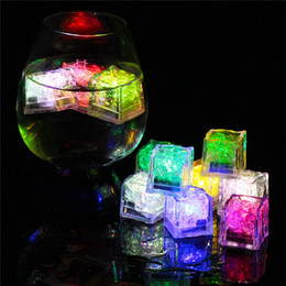 Wholesale Led Bar Ice Cubes - LED Ice Cubes Multicolor Flashing Submersible LED Light Up Ice Cubes Rocks for Bar Club Wedding Party Gift Event Champagne Tower Decoration