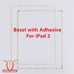 Wholesale Original Ipad Screen - Original New Touch Panel Plastic Middle Frame with Glue Black White For Apple iPad 2 Screen Bezel Trim with 3M Adhesive Installed