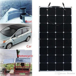 Wholesale Boat Charger - Factory Price Retail solar panel 100w; semi flexible solar panel 100w; mono solar cell 125*125mm for 12V battery charger