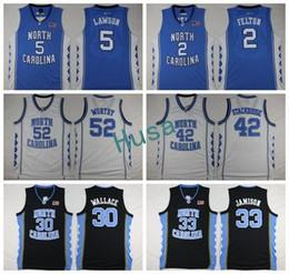Wholesale Bright Brown - North Carolina Tar Heels 2017 new College Jerseys 30 Rasheed Wallace 33 Bright Antawn 52 James Worthy 2 Felton 42 Jerry Stackhouse