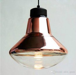Wholesale Glass Bowl Pendant Light - Tom Dixon Copper Bowl Pendant Light Modern Creative Art Glass Lamp Living room Bedroom Chandelier