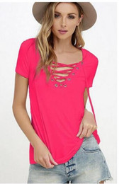 Wholesale Trial Sexy - The new sexy v-neck pure color T-shirt coat ms trials