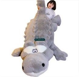 Wholesale Plush Alligators - Dorimytrader 200cm Huge Cute Simulated Animal Crocodile Stuffed Pillow Cushion Big Cartoon Alligator Plush Toy Kids Doll 79'' DY60155