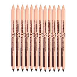 Wholesale Makeup Eyebrow Pencil - New Hot 48pcs lot maquiagem eye brow Menow makeup Double Function Eyebrow Pencils & Concealer Pencils maquillaje