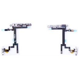 Wholesale Iphone 4s Off - for iPhone 4 4s 5 5s 5c ower Mute Volume Button Switch Connector On Off Flex Cable Ribbon free DHL