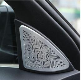 Wholesale Tweeter Speakers Car Audio - For Mercedes Benz S class W222 S320l 400 500 2014-2017 Car styling Aluminum Audio Speaker Cover Tweeters Trim Sticker 2pcs set
