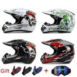 Wholesale Motorcycle Helmets For Kids - Women and Men ABS Motorcross Helmet Motorcycle Off Road ATV Dirtbike Helmets For Kids DOT approved Free goggle and gloves as Gift