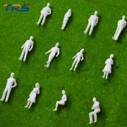 Wholesale Architectural Model Figures - Wholesale- 1:50 scale model miniature white figures Architectural model human scale HO model ABS plastic peoples