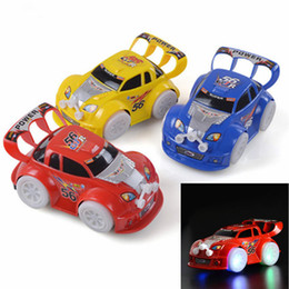 Wholesale Cute Music - LED Car Toys LED Lighted Toys Cute Cars Different Color Kids Christmas Gift Race Car Model Lighting Play Music Kids Playing Safety Toy