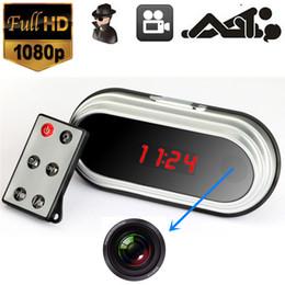 Wholesale Video Surveillance Clock - V9 Spy Hidden Camera Alarm Clock 1280*960 Video Spy Camera Motion Detection Loop Video Recorder Webcam Mini Surveillance Cam