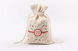 Wholesale Souvenir Pouch - Christmas Xmas Holiday Gifts Souvenir Bags Small Candy Pouch with Drawstring Bag for Christmas Present Candy Pockets, Jewelry Storage