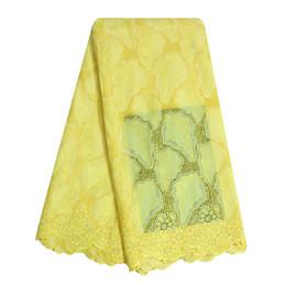 Wholesale Eyelet Fabrics Wholesale - Bestway Women Nigerian High Quality 100% Cotton 2017 Swiss Voile African Lace Fabrics Polished Cotton Eyelet Lace With Stone