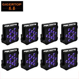 Wholesale Cheap Led Lights Bulbs - TP-G3045 Wireless Iron Case 12x18W RGBWA UV Led Par64 Light Remote Cheap Price Stage Led Par Cans 6 10DMX Wireless 2.4G Triggering Control