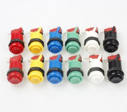 Wholesale Multi Arcade - 6 colors American Happ Style standard CONVEX Push Button with Micro Switch for arcade multi-game machine