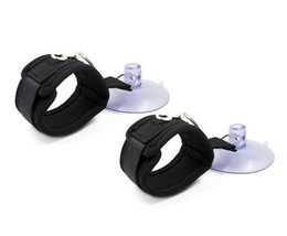 Wholesale Shower Sex Toys - Adult Fantasy Shower Bathroom Bondage Sex Cuffs - Nylon Bands with Suction Cups Wrist Ankle Restraints Cuffs Sex Toy for Couples