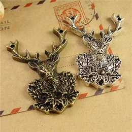 Wholesale Vintage Jewelry Diy Materials Zakka - 38*51MM DIY handmade materials ZAKKA bronze Elk charms, animal pendants jewelry accessories factory, vintage tibetan silver charm dangles