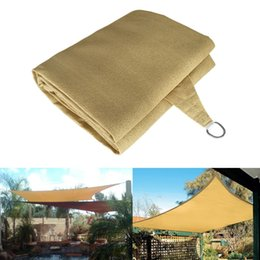 Wholesale Outdoor Sun Covers - Wholesale- Outdoor 6X4m UV Protection Polyester Sun Shade Sail Garden Top Canopy Cover Patio Pool Waterproof Rectangle new Awning