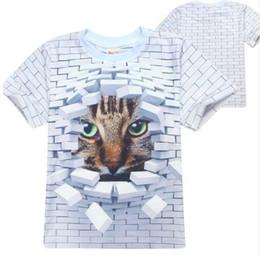 Wholesale Tiger Shirts For Girls - 2017 T shirt Children Boys 3d Printed T-shirts Tiger Panda 3D Print Shirt Casual Panda Costume Animal Tops For Girls Kids
