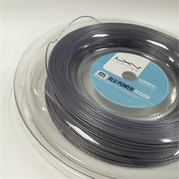 Wholesale buy string - reliable quality luxilon alu power rough tennis string,660ft,125MM ,no printing silver tennis string,welcome to buy