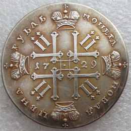 Wholesale Russia Antique - Wholesale- 1729 Russia 1 Rouble Ruble Peter II Copy Coins Free Shipping metal craft dies manufacturing factory