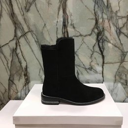 Wholesale Low Heeled Shoes Price - 8072In the winter of 2017 new European leather shoes, with a warm, ankle boots, high quality and low price