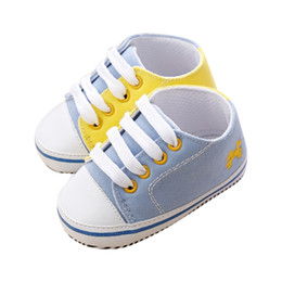 Wholesale Baby Crib Shoe Sizes - Wholesale- New Baby Toddler Infant Boy Girl Shoes Soft Sole Prewalker Crib Shoe Size 0-18 Month