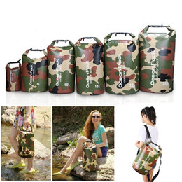 Wholesale Dry Bags For Kayaking - 20pcs 2L 5L 10L 15L 20L 30L Camouflage Waterproof Dry Storage Bag Sack for Floating Boating Kayaking Camping Shoulder Bag
