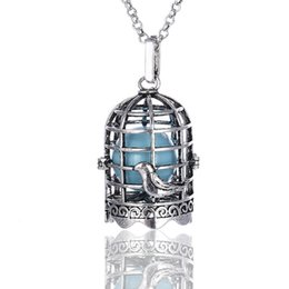 Wholesale Pregnant Halloween - Bird Cage Shape Angel Baby Hollow Bola Birdcage Necklace for Harmony Pregnant Women Cage Locket Pendant Jewelry